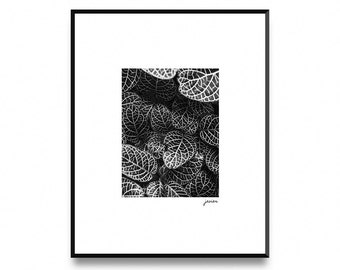 Leaves print, nature leafs, tropical leafs print, tropical print, Wall Art Poster Print with Instant Printable Digital Download