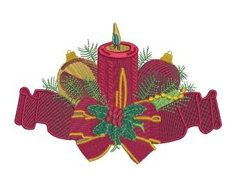 Christmas Ornament Embroidery Design - 4 SIZES