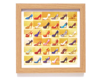 Heels | Stilettos Art Print | Framed Print | Collections Picture | Square Photographic Print | Girly | Shoe Collection | High Heel | Foot