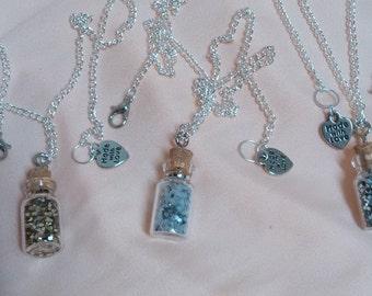 Handmade bottle necklaces