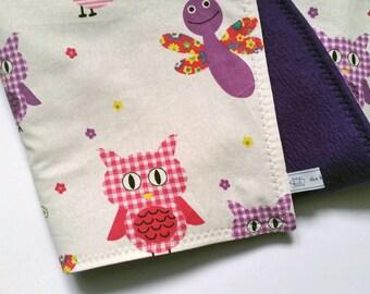 Blankie, 50 x 70 cm, purple-pink OWL