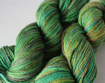 Hand Dyed Merino Wool Silk DK 100g - Hedge Without a Hog