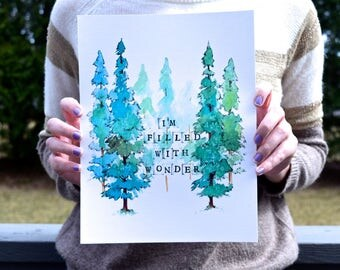 Filled with Wonder - Watercolor Art Print