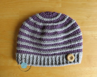 FROSTED Tuque. Spring/fall. Baby, child, adult. Custom main.Commande fact