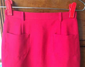 Vintage 70s skirt red size S