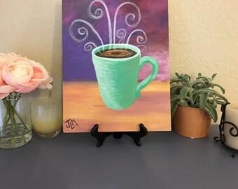 Coffee Mug (Acrylic Canvas Panel Painting)