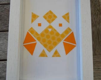Funky handmade geometric owls!