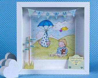New Baby Brother/Custom Baby Brother/Personalised Baby Boy/Custom Baby Boy/Big Brother/Baby Boy Nursery/Boy Nursery Art/ 3D Art
