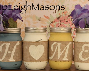 Mason Jar HOME/LOVE decor