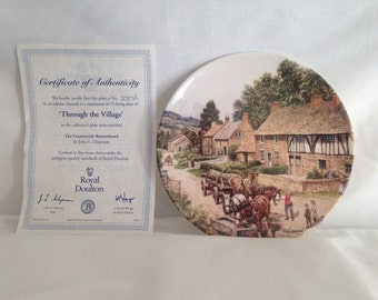 Royal Doulton, Through the Village, Countryside Remembered Series, Ceramic Plate