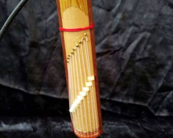 Wooden Asian Musical Instrument Zither Christmas Holiday Tree Ornament