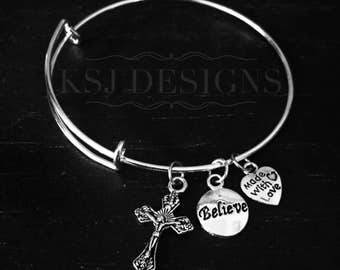 Cross Charm Bracelet