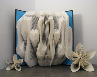 Custom folded book - Date - Heart - Book sculpture - Altered book - Wedding Gift