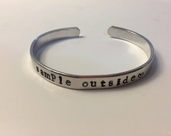 Personalized Hand Stamped Metal Bracelets