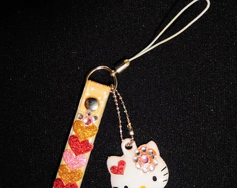 Hello Kitty mobile strap & stickers