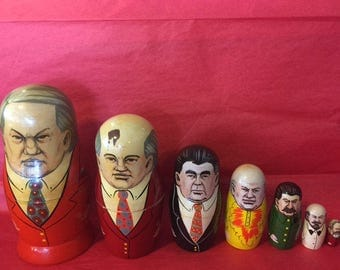 Russian Gorbechev nesting dolls