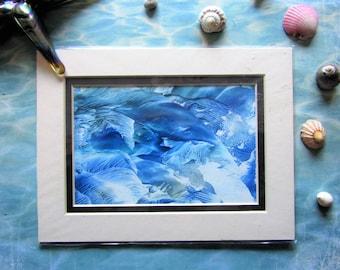 Encaustic Art Postcard: All at Sea
