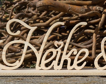 Wood letters names