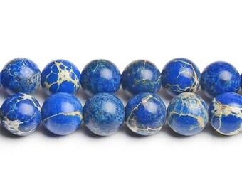 8mm navy blue jasper beads blue terra jasper terra round beads blue gemstone beads blue stone beads blue aqua beads blue round bead gemstone