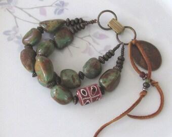 Old West turquoise nugget bracelet