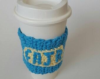 Blue Crochet Eco Friendly coffee/tea cozy