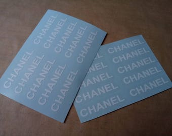 Set of 8 Chanel logo vinyl decal
