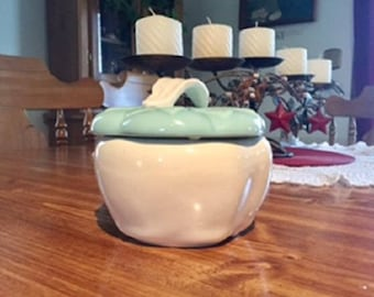 Vintage Honig Pottery Apple Bowl with lid