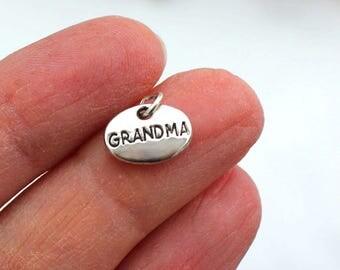 One Grandma Charm, Oval Charm, Grandma Tag, Grandma
