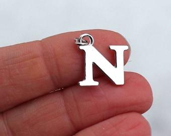 One Letter N, Alphabet Charm, N, Letter N