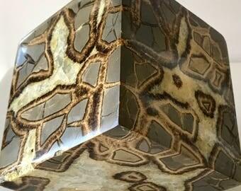 Septarian Nodule ~ RARE CUBE! Calcite Crystals, Utah, Rocks and Minerals, 2594g/5.11 lbs.
