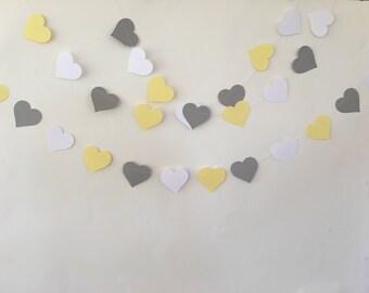 Gray, yellow, and white heart graland