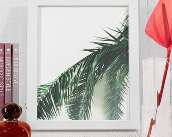 Leaves botanical print, Printable green leaves, Plants and nature wall art, Natural Zen poster, Leaves art decoration, downloadable print.
