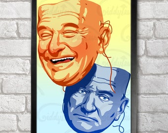Robin Williams Poster Print A3+ 13 x 19 in - 33 x 48 cm  Buy 2 get 1 FREE