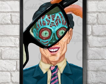 They Live Poster Print A3+ 13 x 19 in - 33 x 48 cm  Buy 2 get 1 FREE