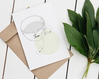 Postcard // Card // Cup of Tea // DIN A6