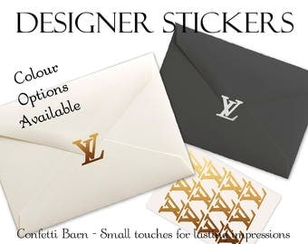 Designer Stickers - Removable Vinyl - Party Invitations - Envelope Sealing Stickers - Planner Stickers #30