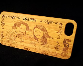 Costumised wooden phone case