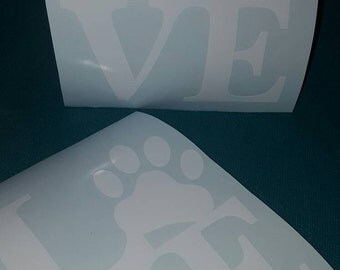 Love Dogs With Paw Car Truck Decal Sticker