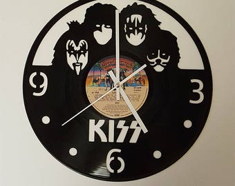 Vinyl Clock, famous 70s rock band, Christmas gift, Wall clock, vinyl record clock