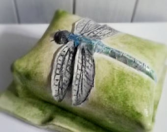 Dragonfly Butterdish, Butter dish, decor, kitchenware, cottage chic, kitchen accessories, nature, breakfast, giftset, wedding gift, cooking