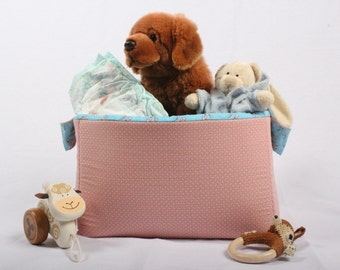 Toy Storage / Toy box / Soft gift basket / Storage basket / Fabric basket / Diaper box / Baby shower gift / Gift for her / Gift for girl