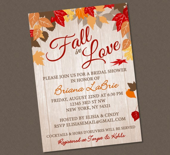 Beautiful fall in love bridal shower invitation fall in love shower il570xn filmwisefo