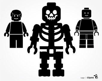 Lego svg, Lego clipart, Lego Man figure, brick skeleton silhouette files, digital download – svg, eps, png, dxf. Cut Print Mug Shirt Decal.