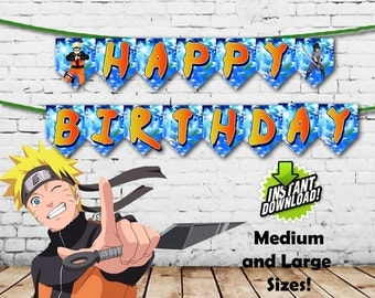 Naruto Happy Birthday Banners