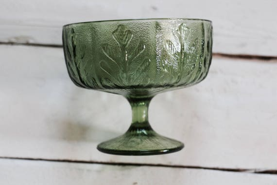 Green Depression Glass Serving Bowl
