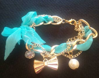 Golden jewelry bracelet