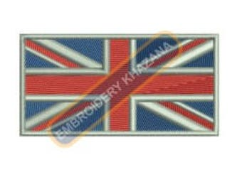 Union jack embroidery design instant download