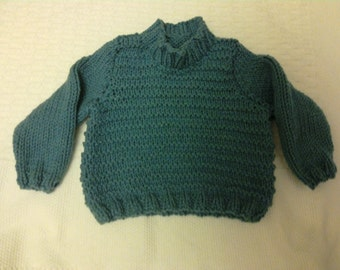 Chunky knit jumper for 2 year old
