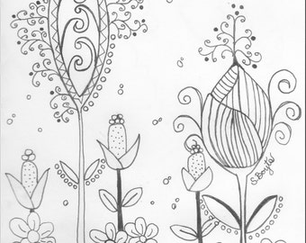 Whimsical Coloring Page