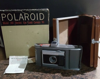 Polaroid J66 Land Camera with original box & case